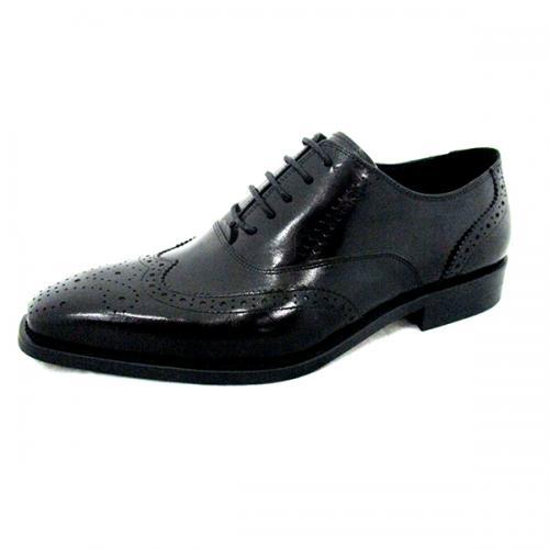 Men's Black Shiny Party Shoes