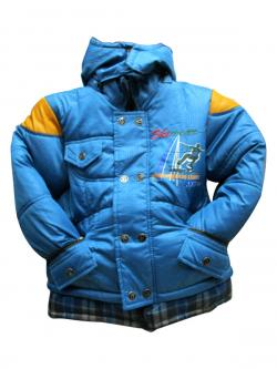Kids Blue Ladies Down Jacket