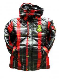 Black Red Kid Down Jacket