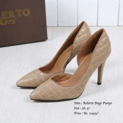 Biege Pumps