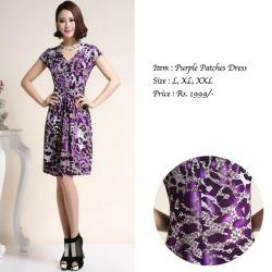PURPLE PATCHES DRESS