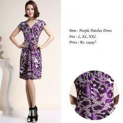 PURPLE PATCHES DRESS