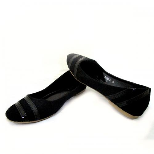 Black Belly Shoes With Shiny Linings