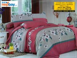 Super King Size Bedsheet (FT-3308) - 100% Cotton