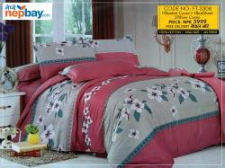 Super King Size Bedsheet (FT-3308) - 100% Cotton