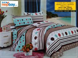 Super King Size Bedsheet (FT-3304) - 100% Cotton