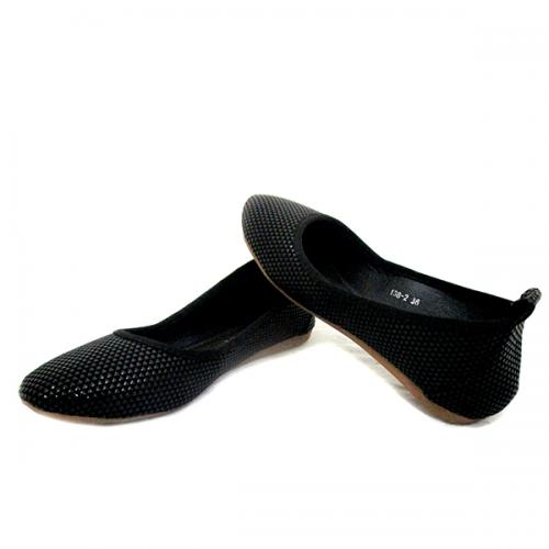 Black Shiny Bellarinas Shoes for Ladies