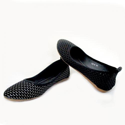 Ladies Black Designed Belly Shoes