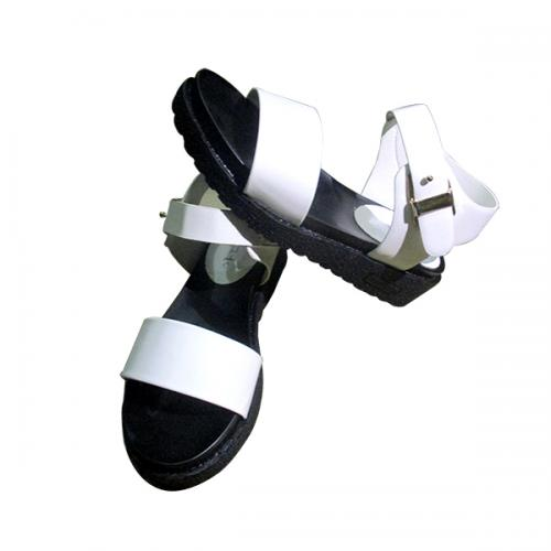 Ladies' Black & White Shoes