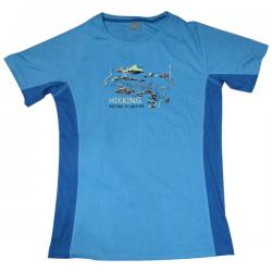 Blue Hiking T-Shirt For Men - (KALA-0054)