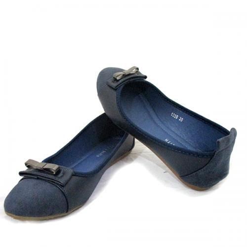Ladies Formal Blue Belly Shoes