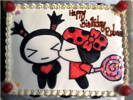 Pucca & Garu Hand Drawn Cake (3 Pounds)