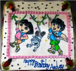Dora the Explorer Cake (4 Pound)