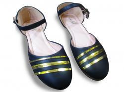 Ladies Flat Sandal Shoes -N.Blue