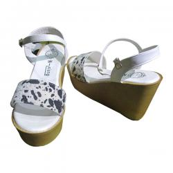 Ladies' White Wedge Heel Shoes