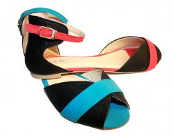 ormal Red And Blue Color Ladies Slipper