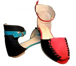 Red And Blue Color Ladies Slipper