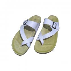 White Leather Slippers For Summer