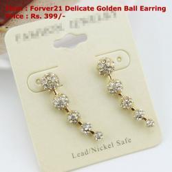 Delicate Golden Ball Earring