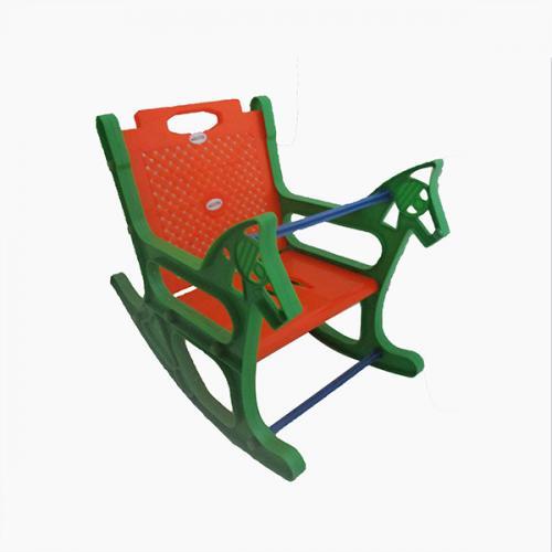 Green & Orange Kids Plastic Rocking Chair
