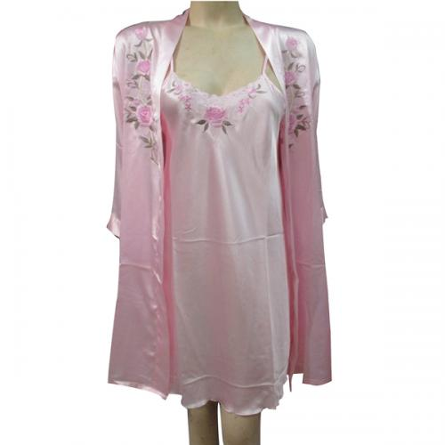 Pink Silk Nightwear