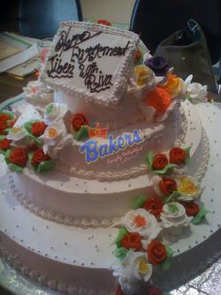 4 Decker Flower Deco Cake