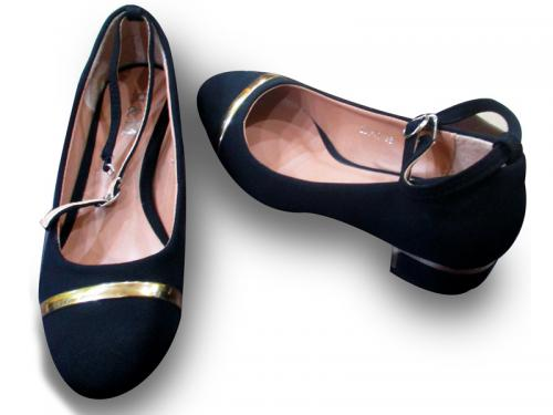 Ladies Shoes Med Heel NBlue/Black