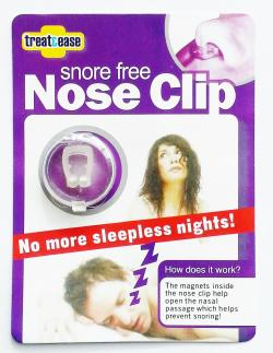 Nose clip for snore releif