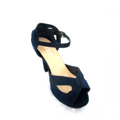 Dark Blue High Heel Shoes