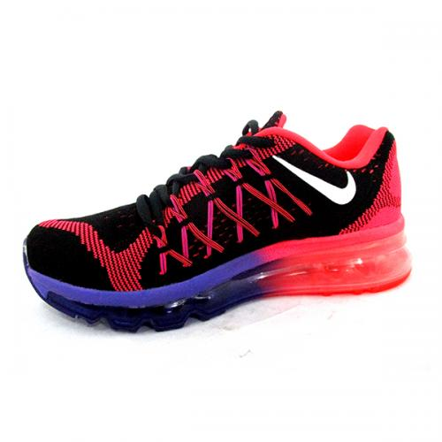 Airmax Black Purple Pink Running Shoes