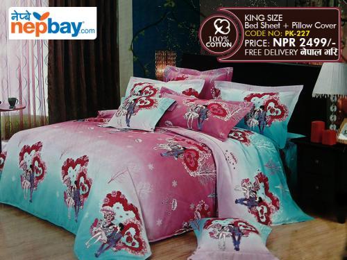 King Size - 100% Cotton Bedsheet - (PK-227)