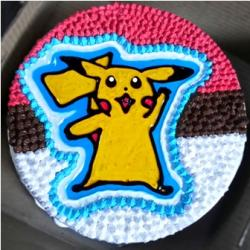 Pikachu Hand Drawn Cake (2 Pound)
