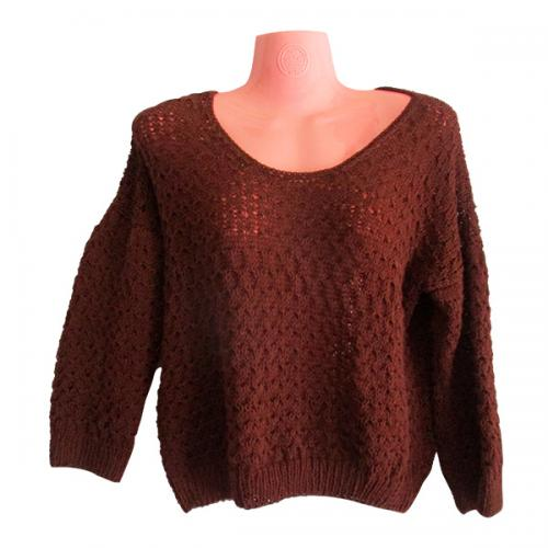 Brown Woolen Winter Sweater - (SP-012)