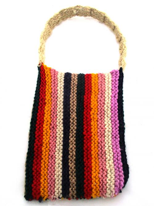 Mix Color Woolen Ladies' Bag - (SP-017)