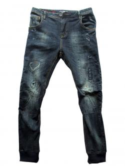 Blue Jeans Grunge Pant For Men - (EC-017)