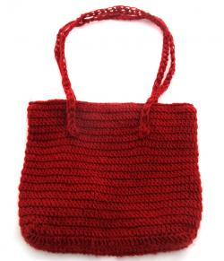 Red Woolen Ladies' Bag - (SP-019)