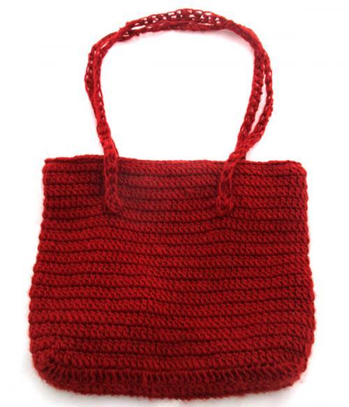 Red Woolen Ladies' Bag - (SP-019)