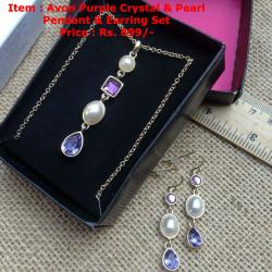 Avon Pendant & Earring Set