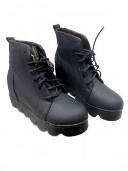 Ladies Leather Black Boot