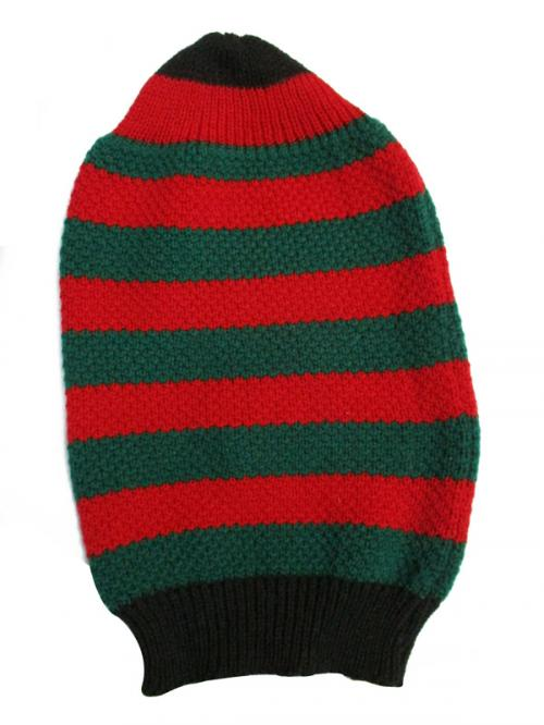 Black & Red Stripe Woolen Cap