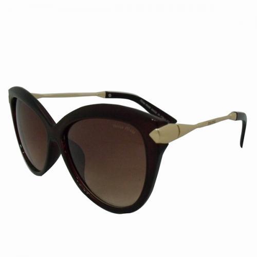 Brown MIU MIU Cat Eye Sunglasses For Ladies - (MIU-0002)
