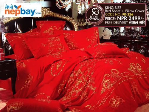 King Size - 100% Cotton Bedsheet (PK-226)