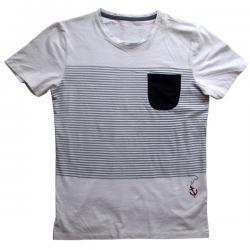 Black & White Linear T-Shirt For Men - (EC-026)