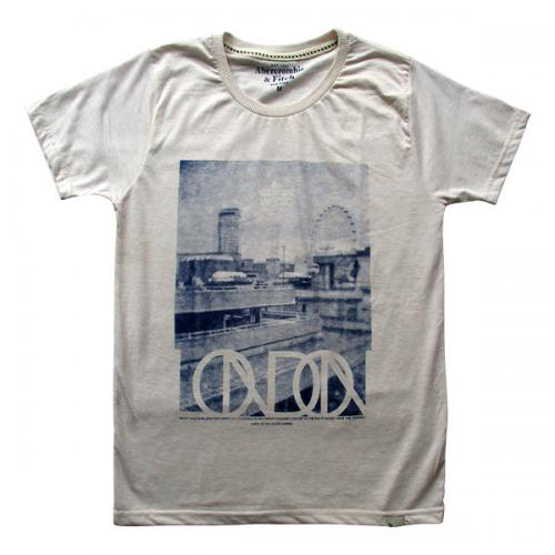 London Printed Off White T-Shirt - (EC-027)