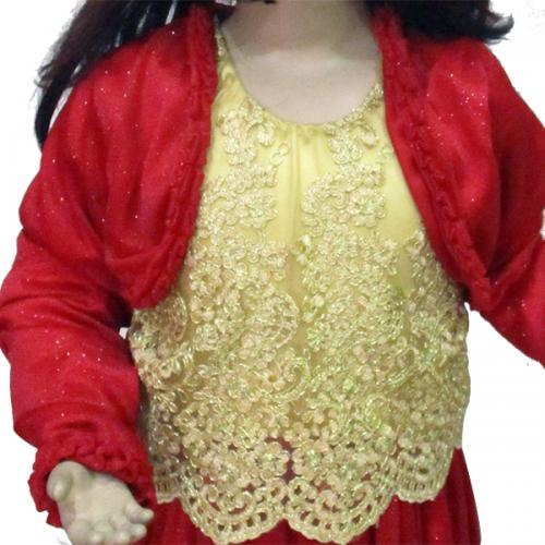 Gorgeous Red Frock For Kids - (JU-004)