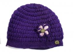 Purple Woolen Cap