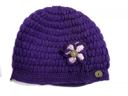 Purple Woolen Cap