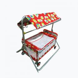 Red Swing Crib & Baby Bed