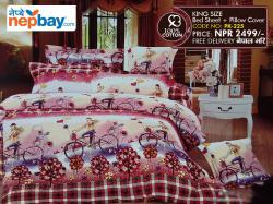 King Size - 100% Cotton Bedsheet (PK-225)
