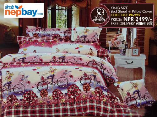 King Size - 100% Cotton Bedsheet (PK-225)